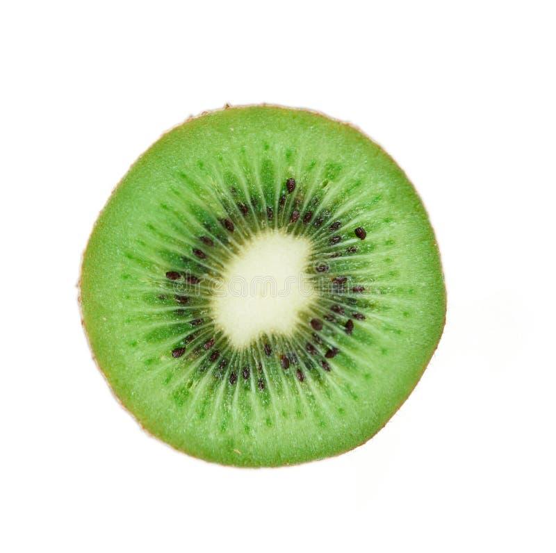 Fatia de fruto de quivi fresco fotografia de stock royalty free