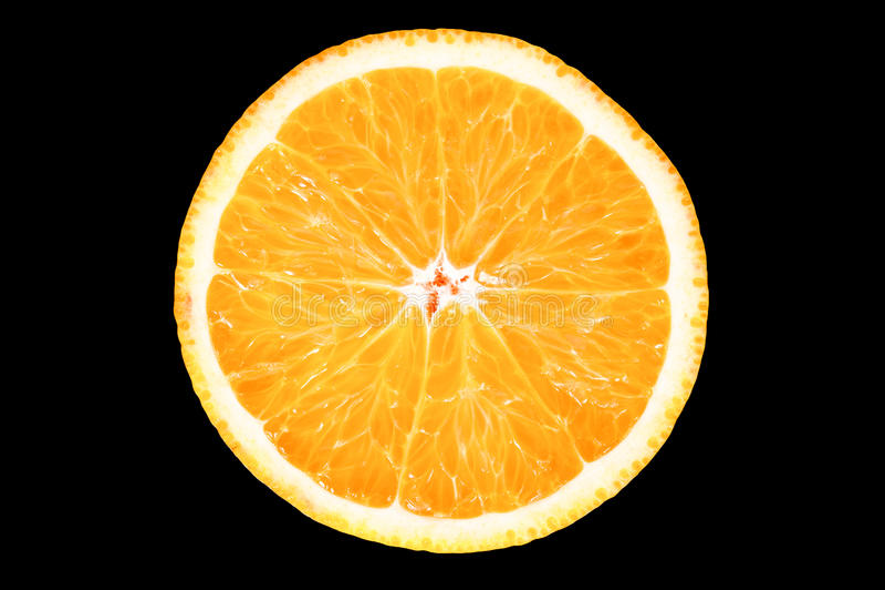 Fatia de laranja fresca foto de stock royalty free