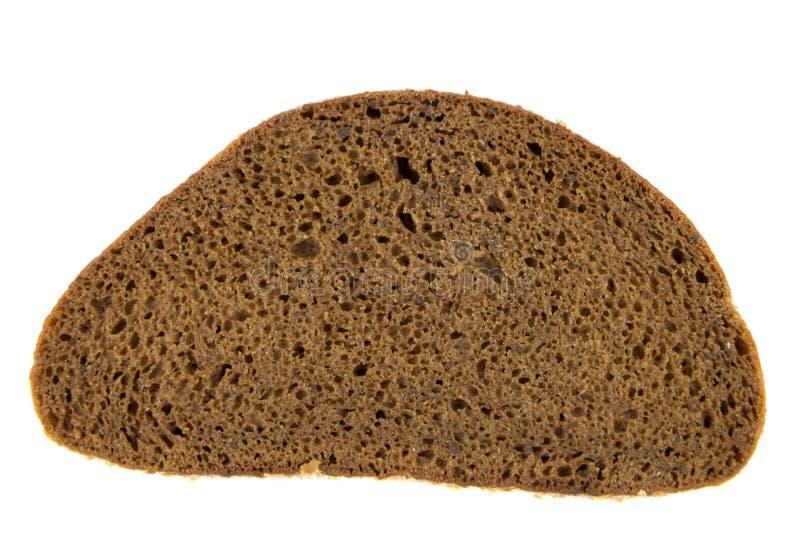 Fatia de pão de centeio fotografia de stock