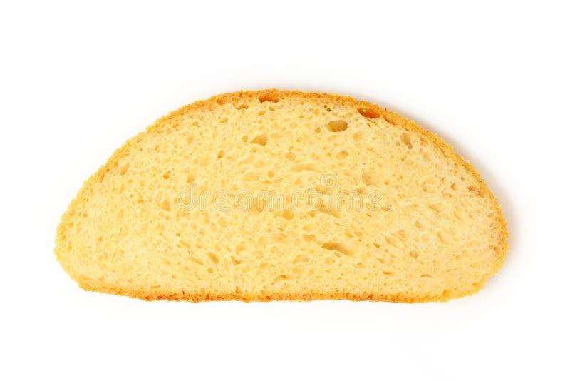 Fatia de pão no fundo branco fotos de stock royalty free