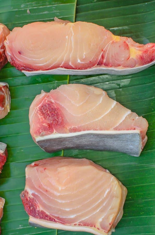Fatia de peixes/carne imagem de stock