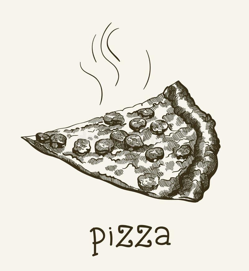 Fatia de pizza ilustração do vetor