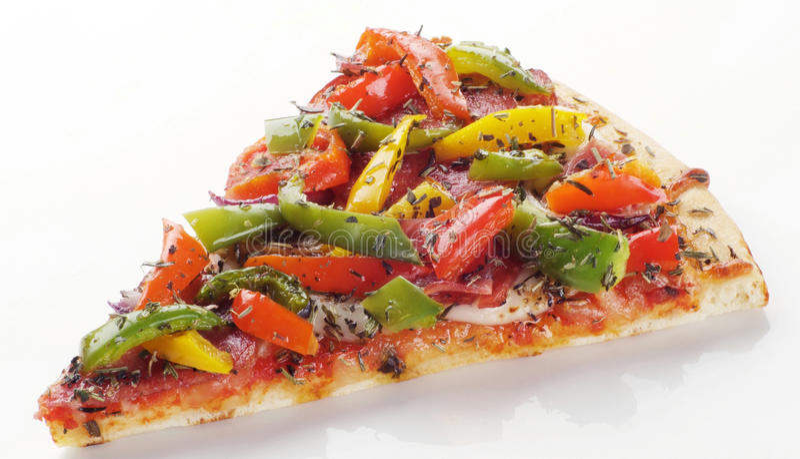 Fatia de pizza fotografia de stock royalty free