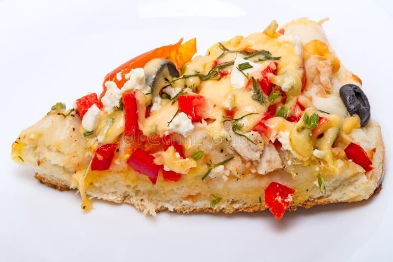 Fatia de pizza caseiro foto de stock