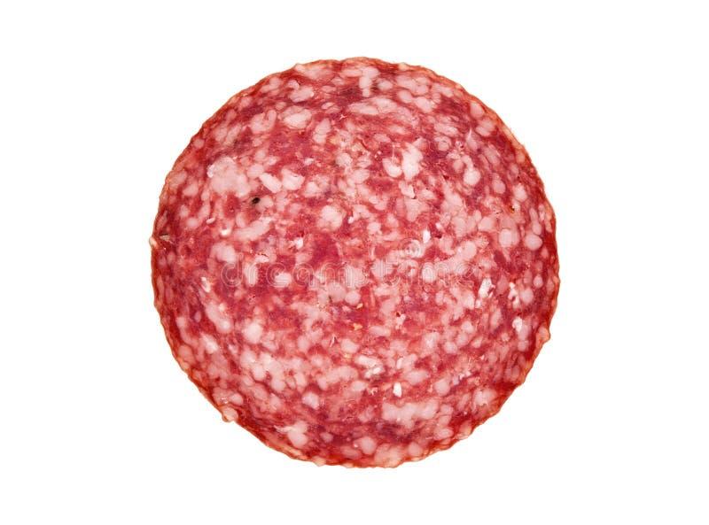 Fatia de salsicha do salami fotos de stock royalty free