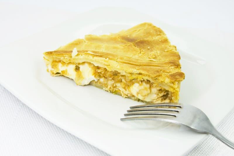 Fatia de torta da galinha foto de stock