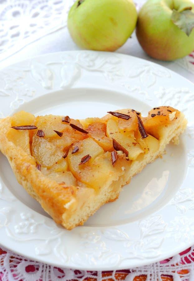 Fatia de torta de maçã imagem de stock royalty free