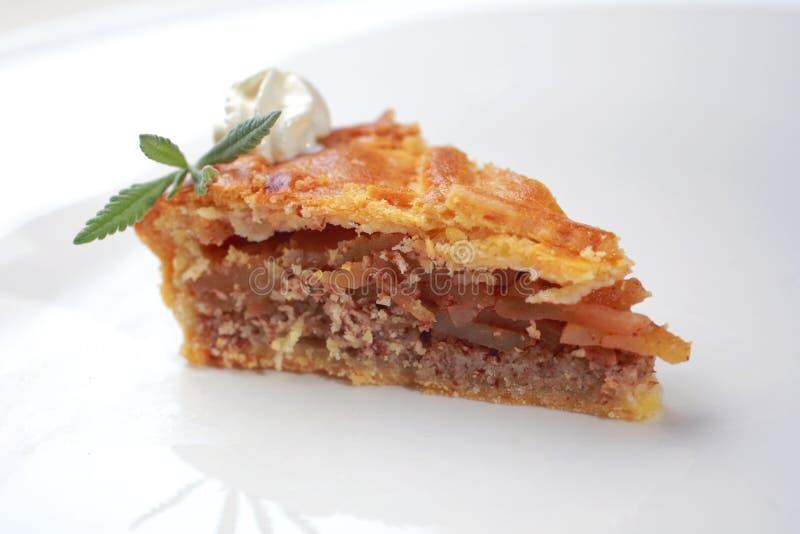 Fatia de torta de maçã foto de stock royalty free