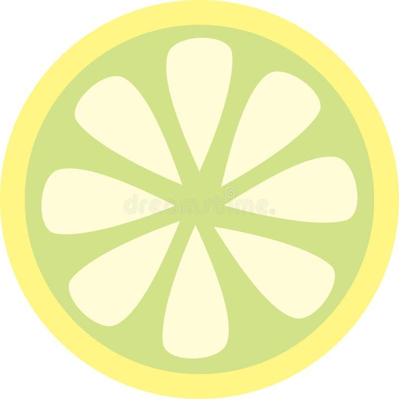 Fatia do limão ilustração do vetor