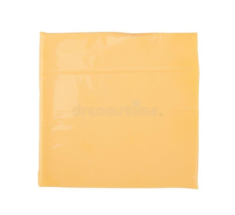 Fatia do queijo isolada fotos de stock