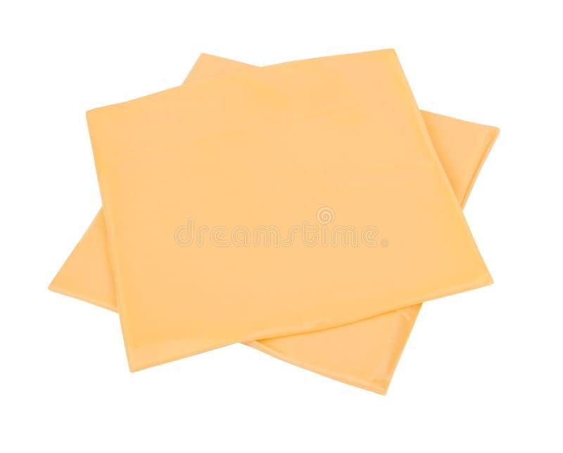 Fatia do queijo isolada imagem de stock