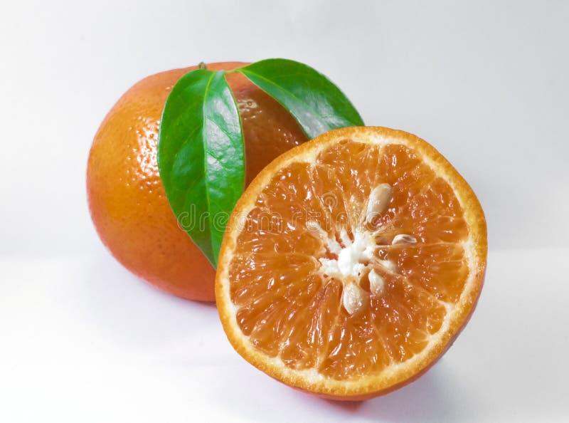 Fatia fresca org?nica madura t?pica alaranjada do fruto do alimento do citrino imagem de stock royalty free