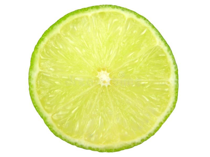 Fatia verde do limão fotografia de stock