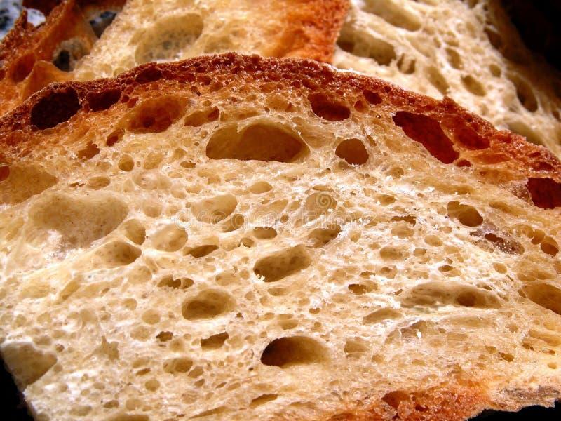 Fatias 2 do pão fotografia de stock