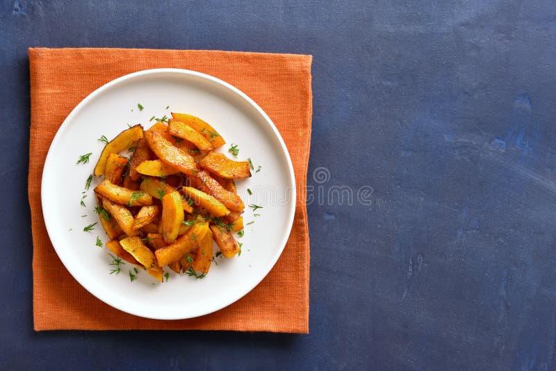 Fatias cozidas forno da ab?bora imagens de stock royalty free