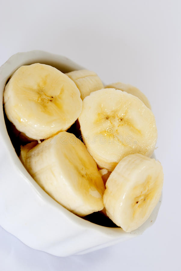Fatias da banana imagem de stock royalty free