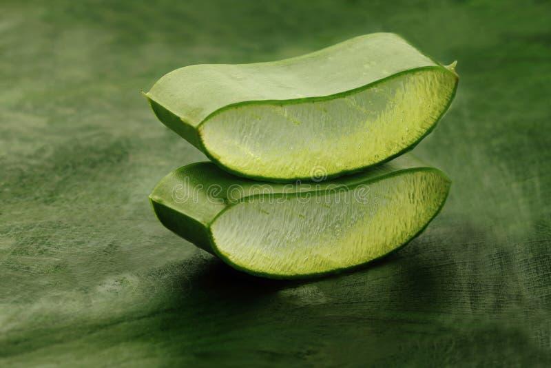 Fatias de Aloe Vera imagem de stock