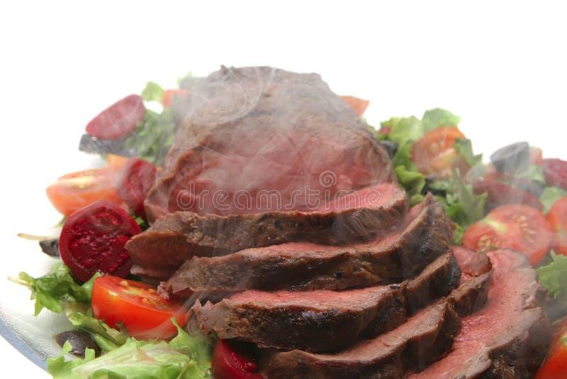 Fatias de carne do assado imagens de stock royalty free