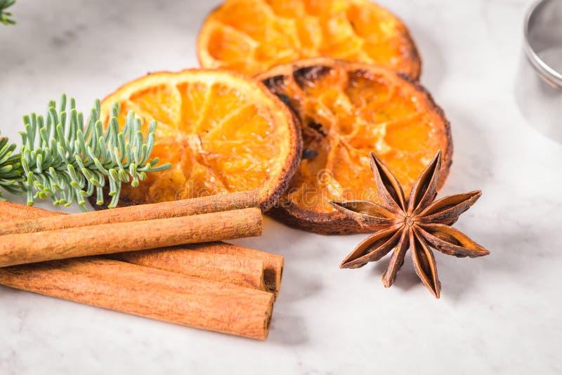 Fatias de laranja secada fotografia de stock