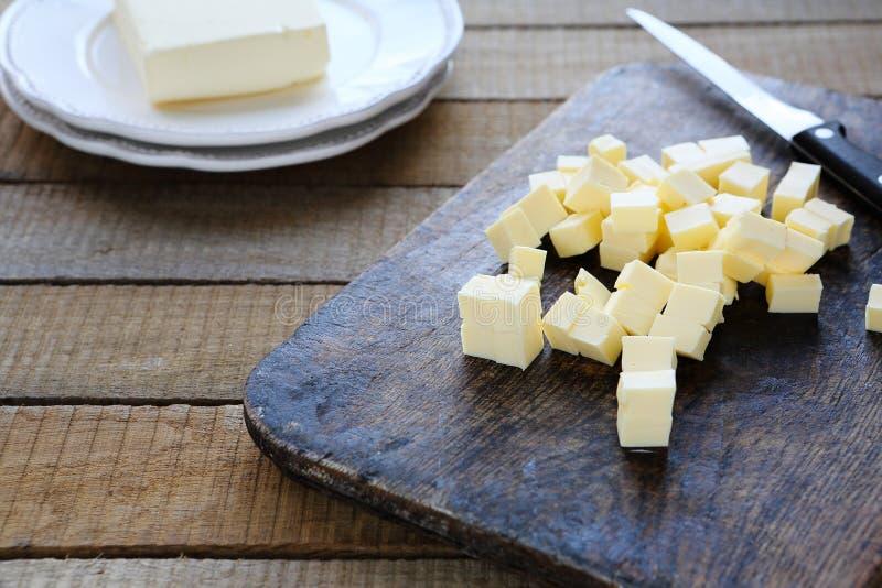 Fatias de manteiga caseiro fotografia de stock royalty free