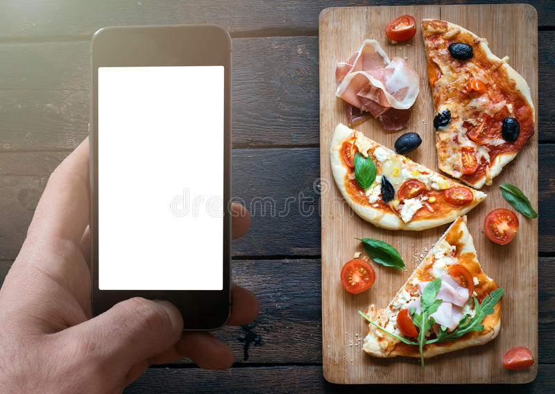 Fatias de mini pizza imagem de stock royalty free