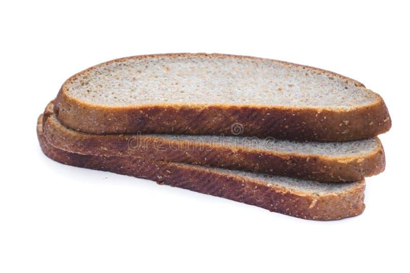 fatias de pão de aveia isoladas sobre fundo branco imagem de stock