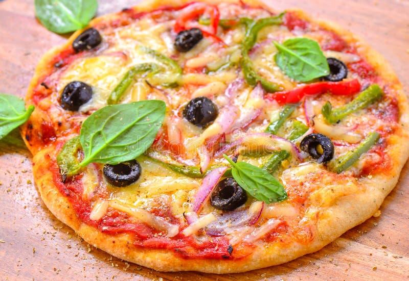 Fatias de pizza italiana do vegetariano fotografia de stock