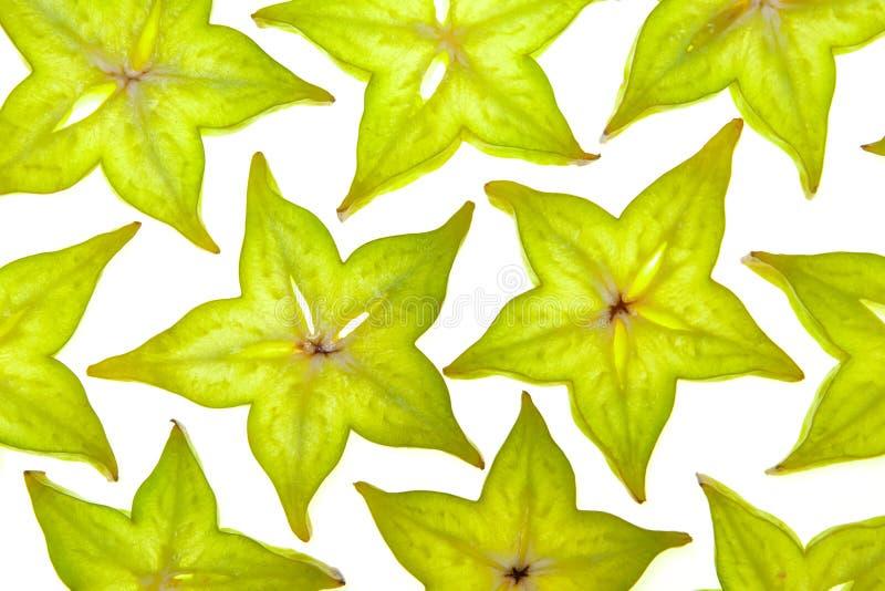Fatias de Starfruit (carambola) imagem de stock royalty free