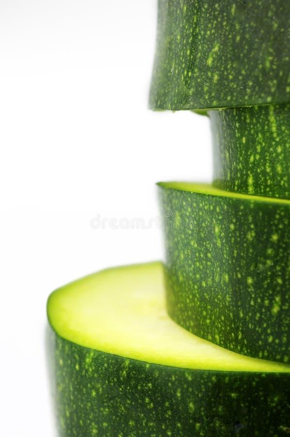 Fatias de zucchini imagem de stock royalty free
