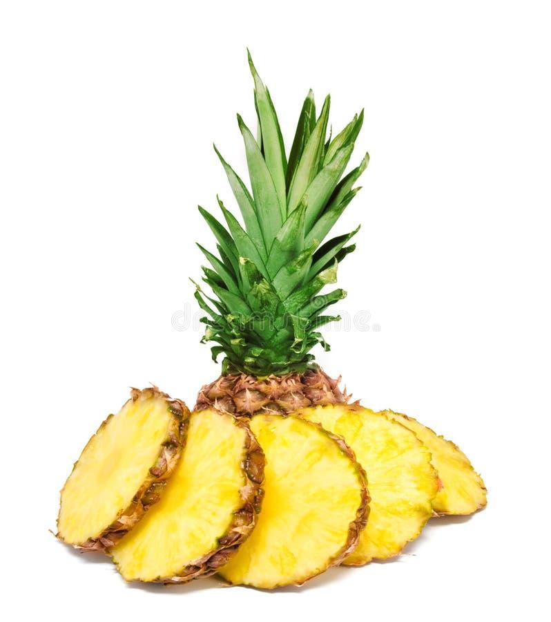 Fatias do abacaxi isoladas imagens de stock royalty free