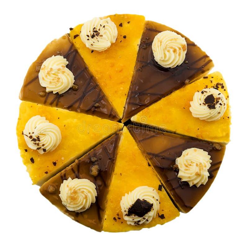 Fatias do bolo e do limão de café imagens de stock royalty free