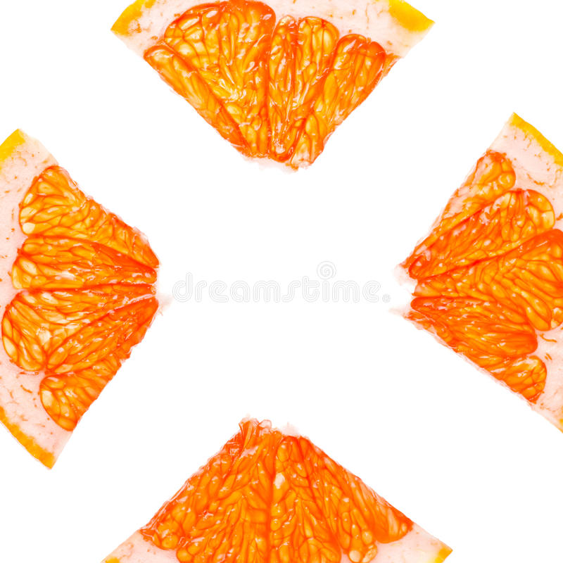 Fatias do citrino fotografia de stock