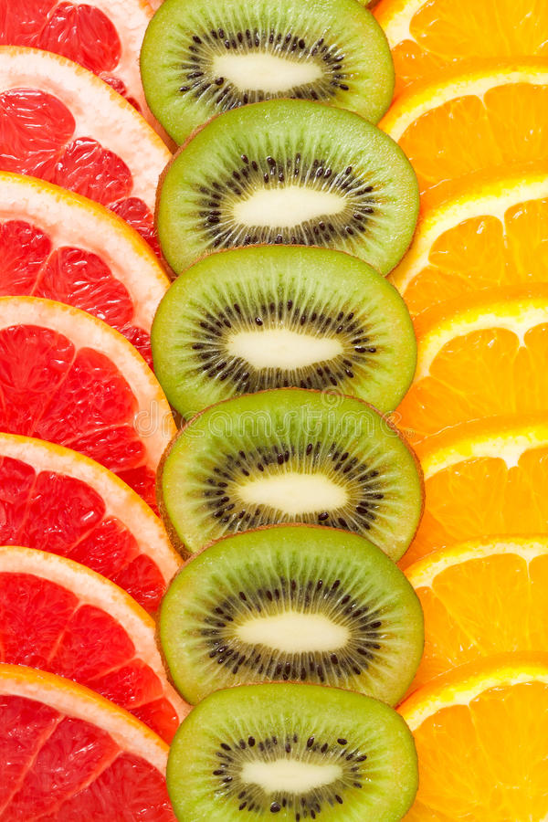 Fatias do fruto foto de stock royalty free