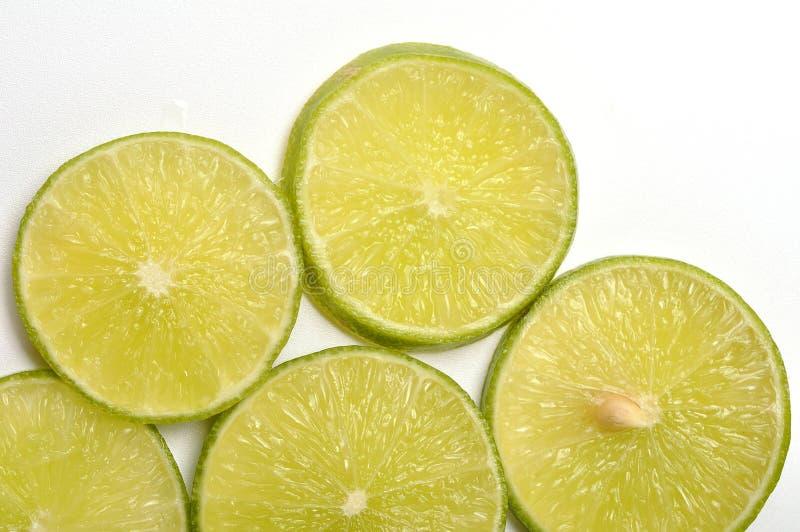 Fatias do limão imagem de stock