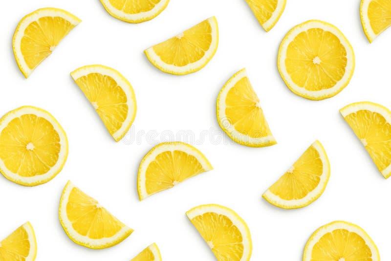 Fatias do limão como o teste padrão fotos de stock