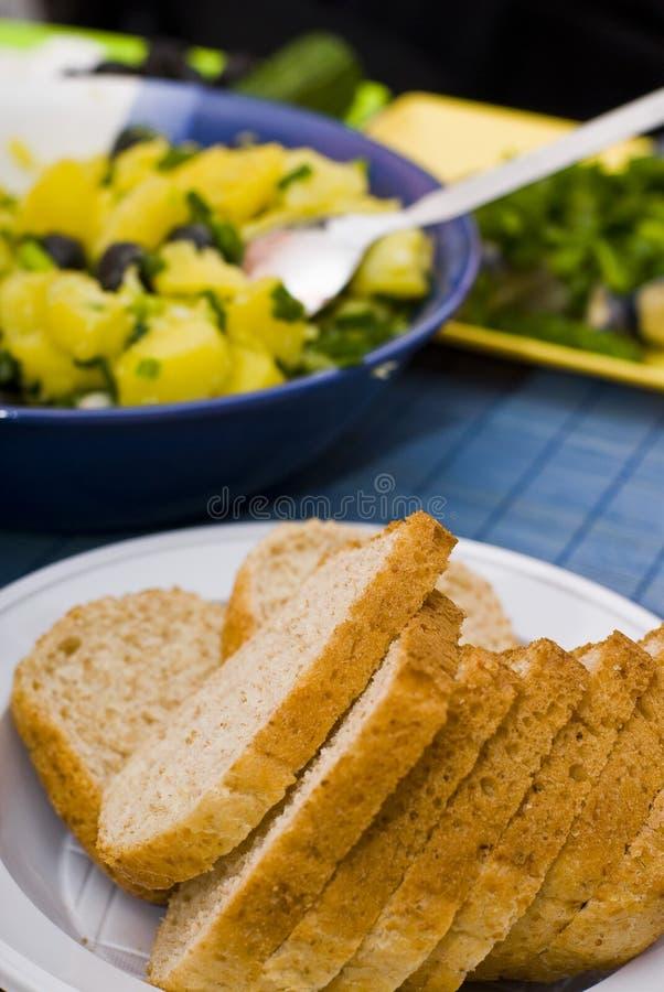 Fatias do pão imagens de stock royalty free