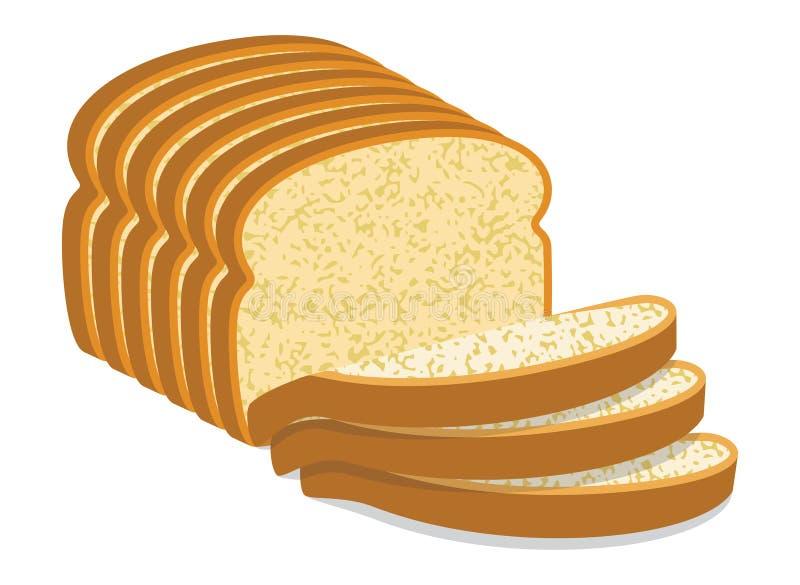 Fatias do pão branco ilustração stock