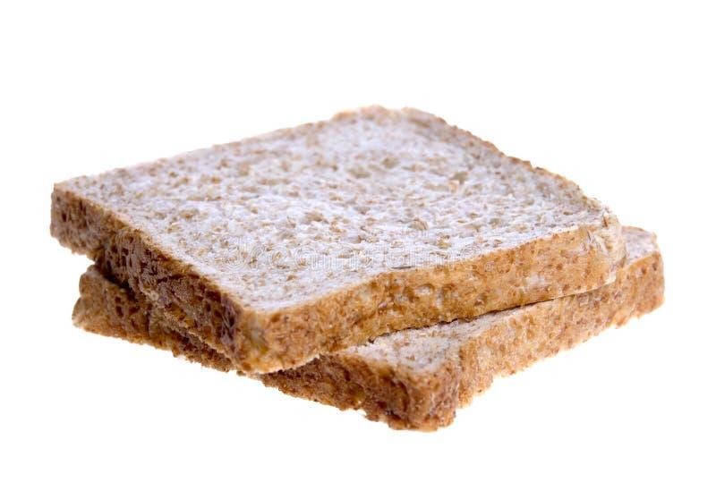 Fatias do pão de Wholemeal fotos de stock