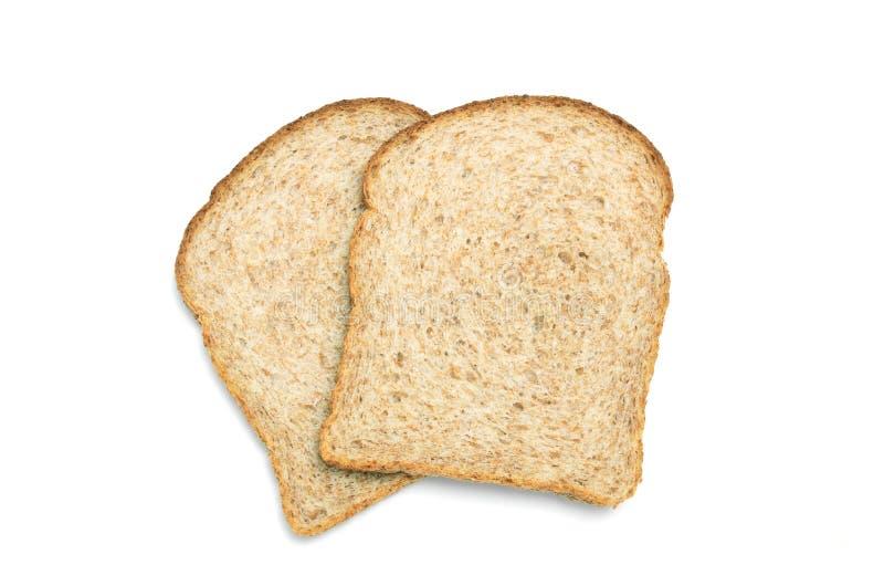 Fatias do pão de Wholemeal imagens de stock