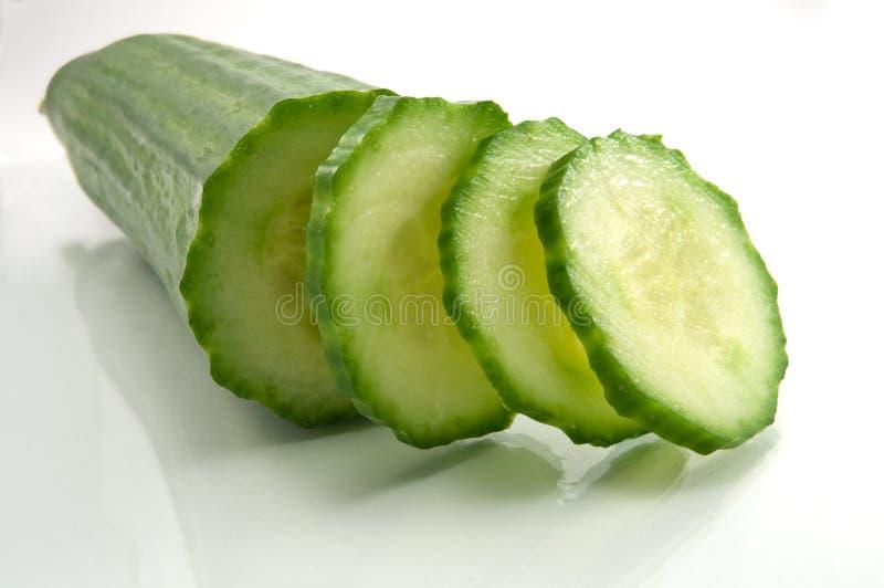 Download Fatias do pepino foto de stock. Imagem de saúde, vegetal - 12802548