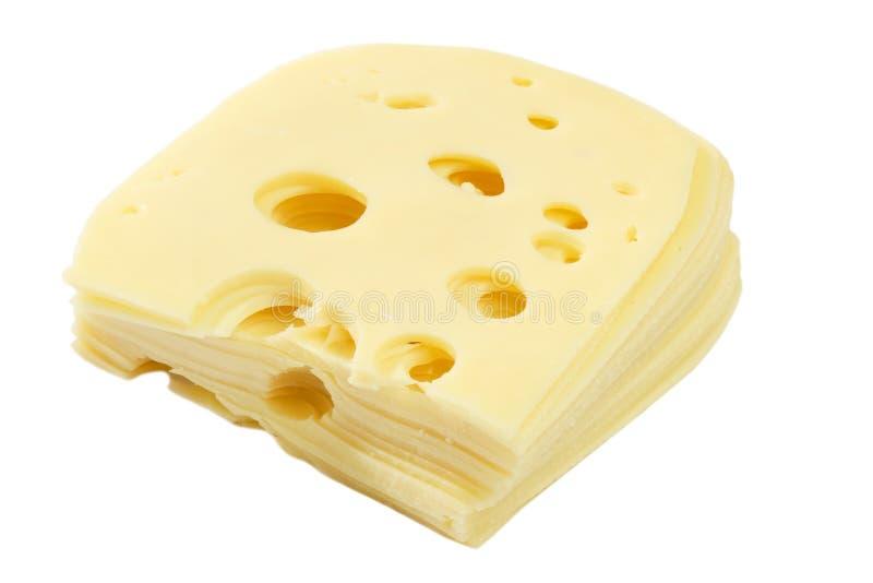 Fatias do queijo fotografia de stock royalty free