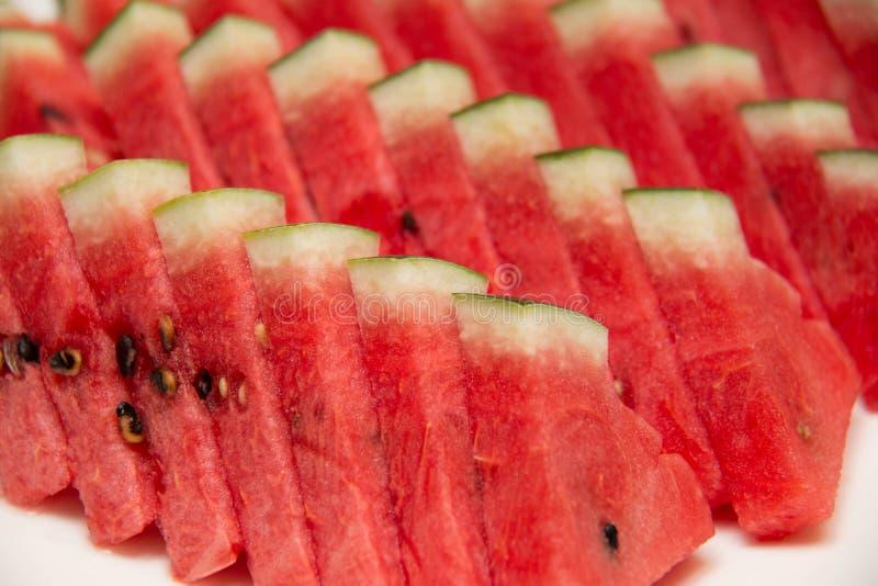 Fatias frescas de melancia vermelha imagem de stock