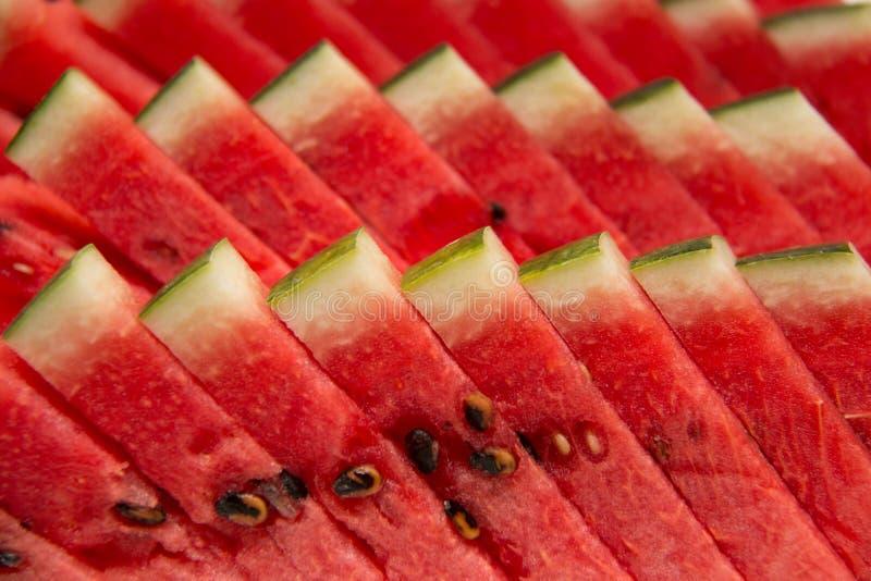Fatias frescas de melancia vermelha fotos de stock royalty free
