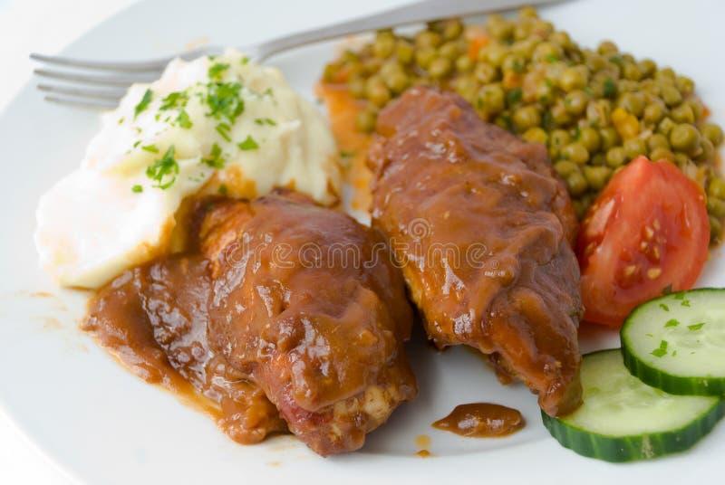 Fatias roladas pedaço da carne de porco 4 imagem de stock royalty free