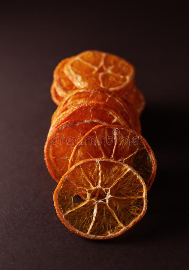 Fatias secadas das laranjas fotos de stock royalty free