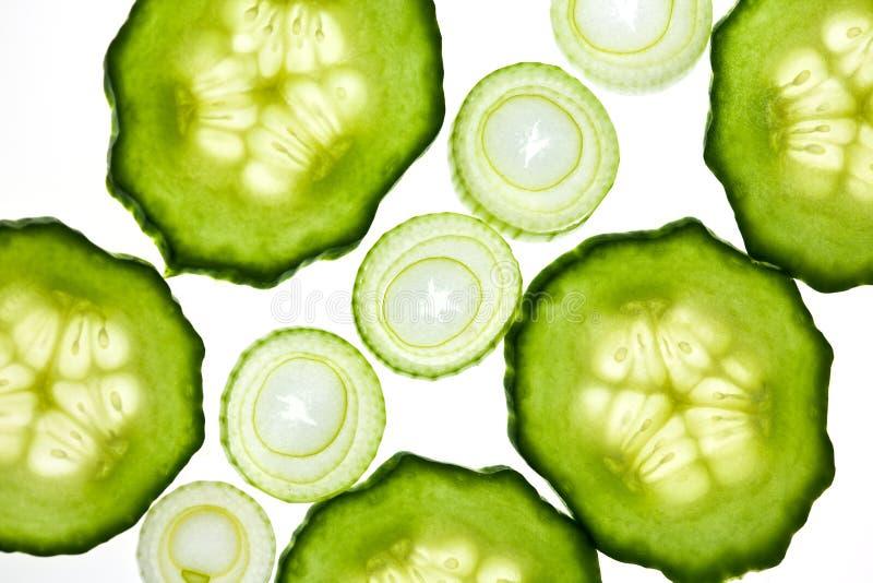 Fatias vegetais imagens de stock royalty free