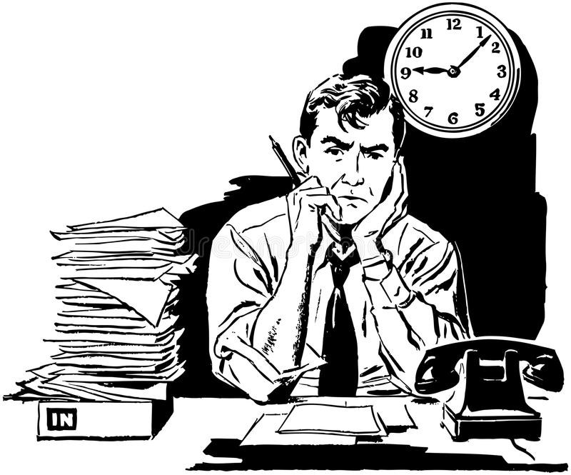 Fatigué de votre vieux travail ? illustration de vecteur