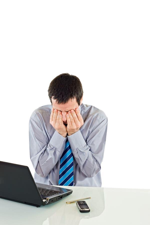 Fatigue businessman stock images