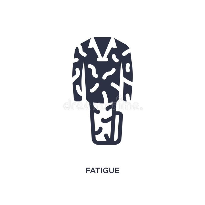 Fatigue icon on white background. Simple element illustration from desert concept. Fatigue isolated icon. Simple element illustration from desert concept vector illustration