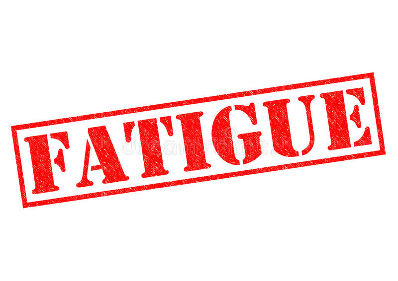 FATIGUE. Red Rubber Stamp over a white background vector illustration